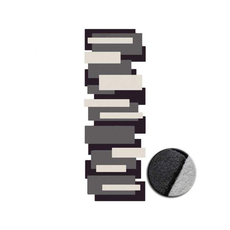 Tapis de Couloir Design et Original Pebbles par Angelo gris et noir