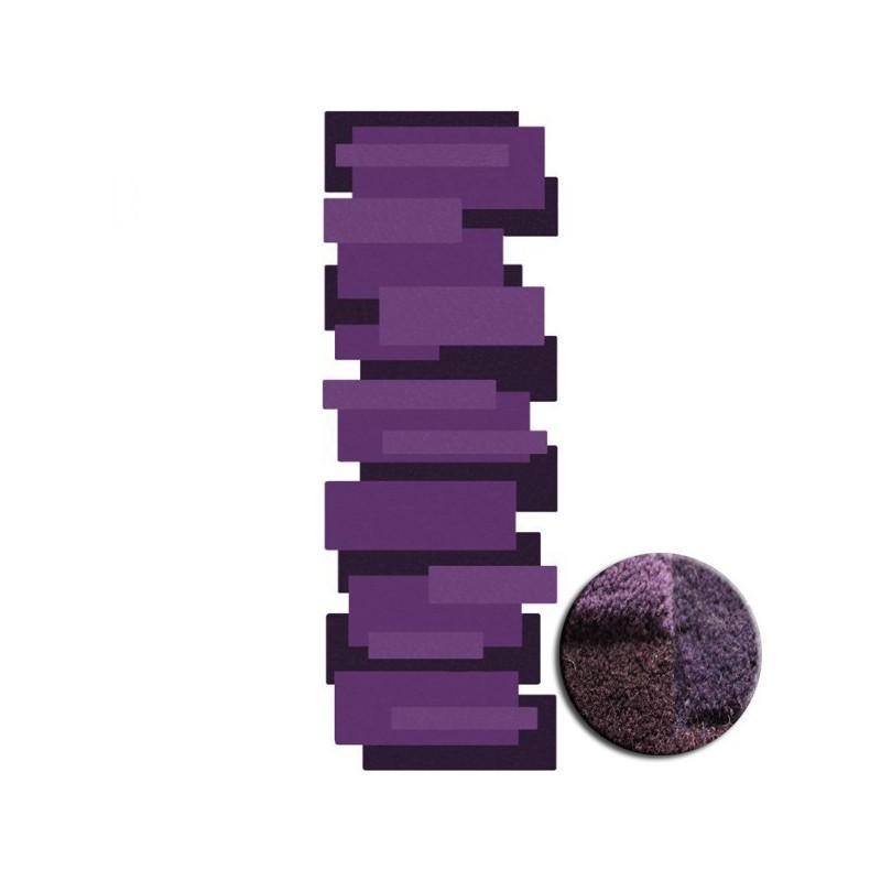 Tapis de Couloir Design et Original Pebbles par Angelo violet