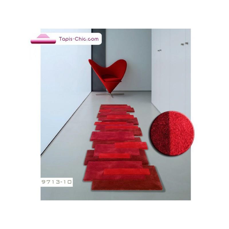 Tapis contemporain Pebbles rouge par Angelo