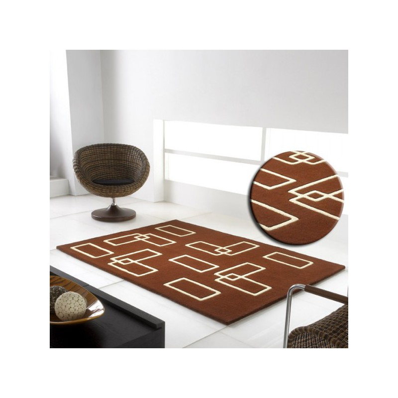 Tapis Intersection Marron par Carving