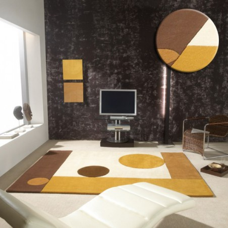 Tapis Contemporain Moon Beige par Carving