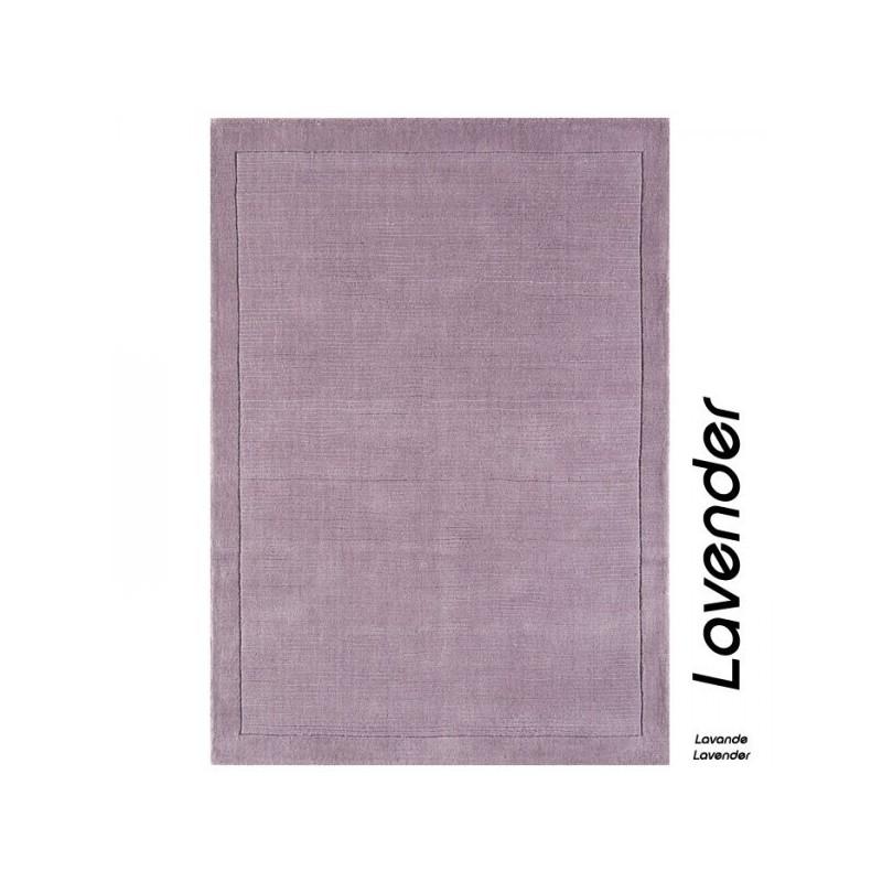 Tapis Contemporain Uni en laine couleur lavande York Collection Grand Cru by Joseph Lebon