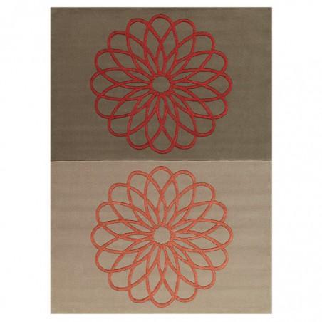 Tapis Rectangulaire Rosaces Revival par Arte Espina
