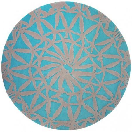 Tapis Rond Turquoise Oriental Lounge par Esprit Home