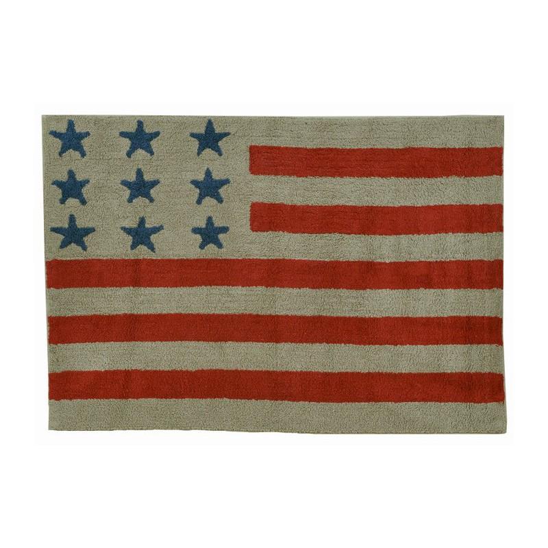 Tapis USA Flag Beige par Lorena Canals