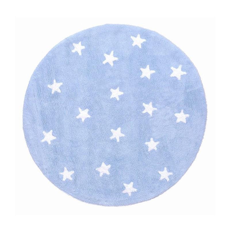 Tapis Enfant Rond Bleu Ciel Cielo par Lorena Canals
