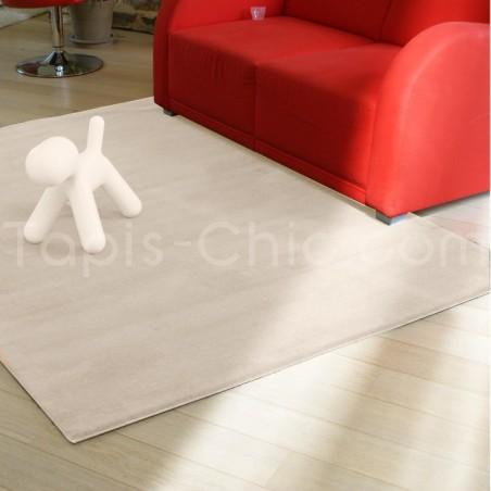 Tapis Uni Moderne Spirit Blanc cassé rectangulaire par Arte Espina
