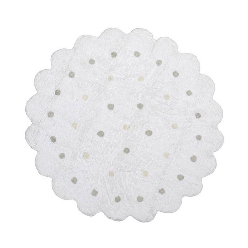 tapis enfant rond blanc cass galletita lorena canals. Black Bedroom Furniture Sets. Home Design Ideas
