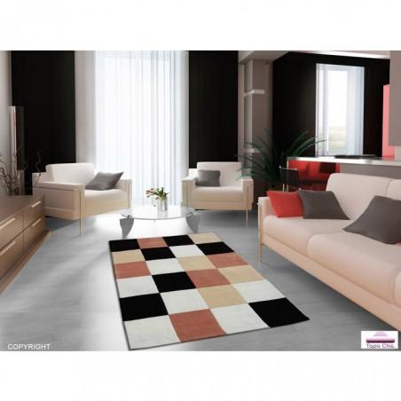 Tapis Design Damier Beige pour la Collection Tapis Chic