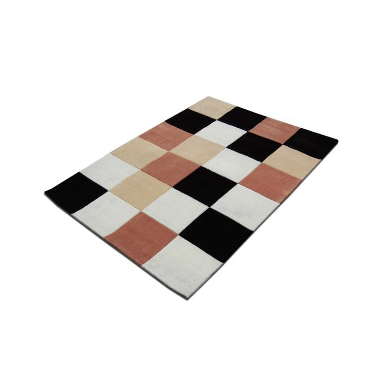 Tapis Design Damier Beige pour la Collection Tapis Chic