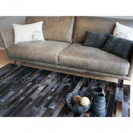 Tapis Jacob en peau de vache Home Spirit tons chocolats