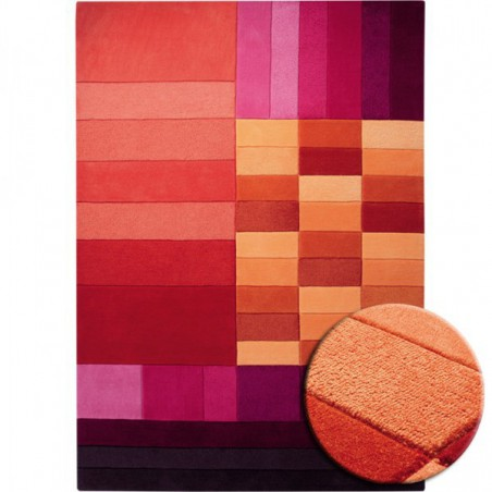 Tapis Various Box Rouge par Esprit Home