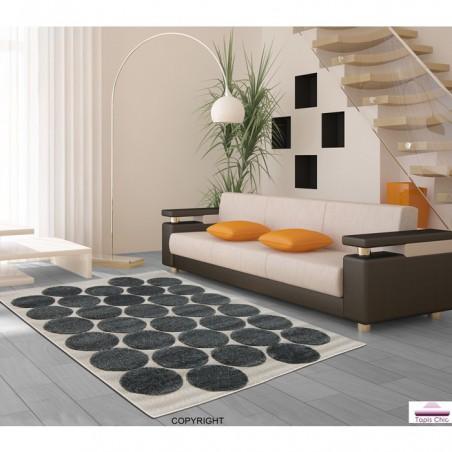 Tapis Design Bubulles Gris pour la Collection Tapis Chic
