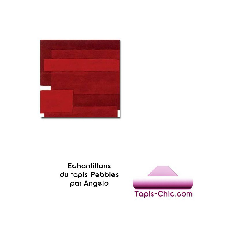 Echantillon du tapis Angelo Pebbles Rouge-10