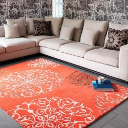 Tapis orange design - Couleurs vives - Tapis Chic