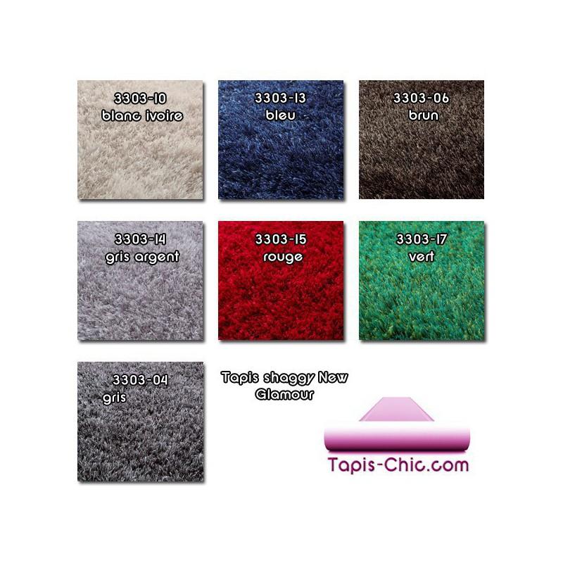 Échantillons de tapis shaggy New Glamour