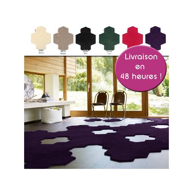 Valise de 8 dalles de tapis longues mèches - Shaggy Esprit Home Vorwerk à assembler