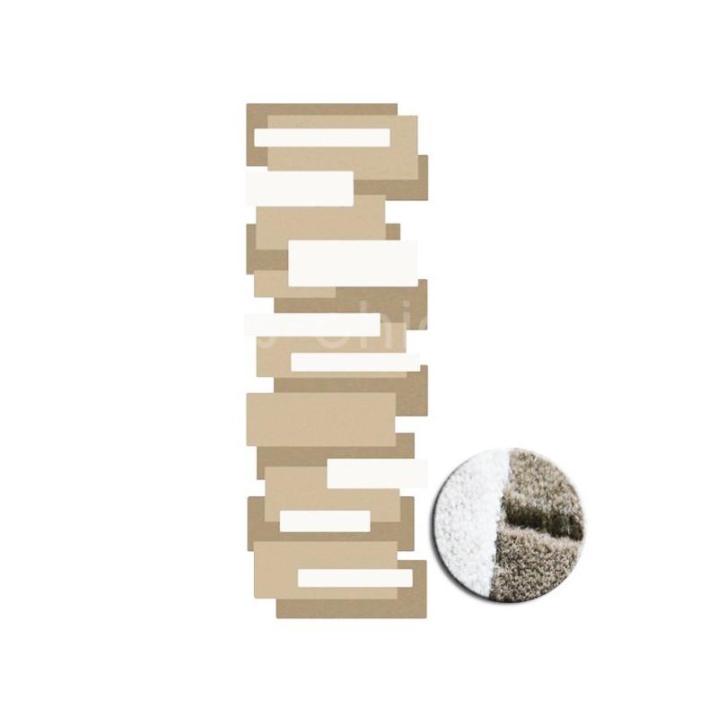tapis design et original pebbles par angelo beige et blanc. Black Bedroom Furniture Sets. Home Design Ideas