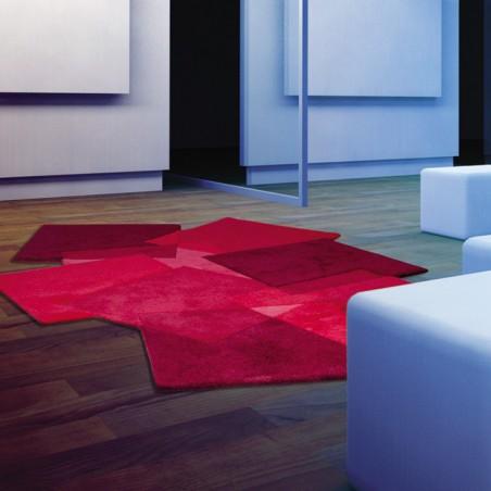 tapis original rouge pebbles par angelo. Black Bedroom Furniture Sets. Home Design Ideas