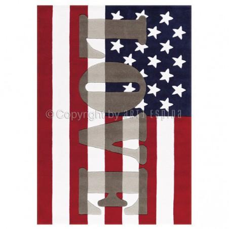Tapis Love America par Arte Espina 140 x 200 cm