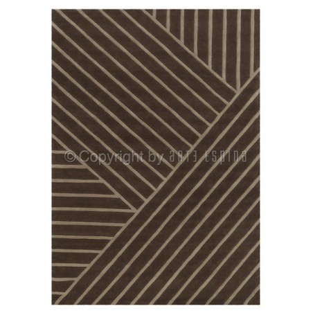 Tapis Design Marron Zen par Arte Espina