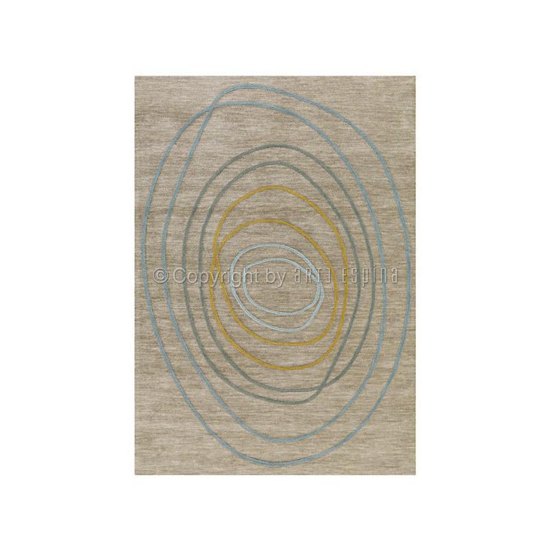 Tapis Design Taupe Tivoli Circle par Arte Espina