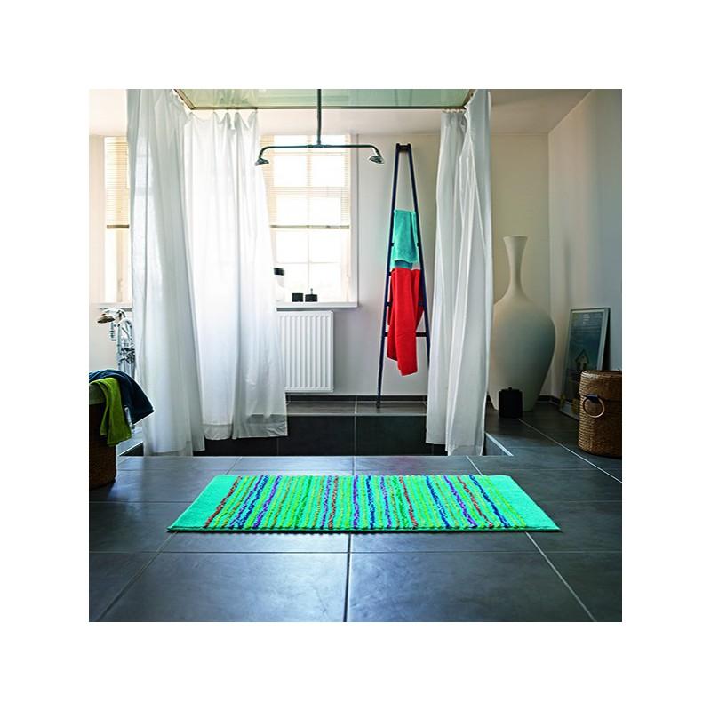 Tapis de Salle de bain Bleu Cool Stripes