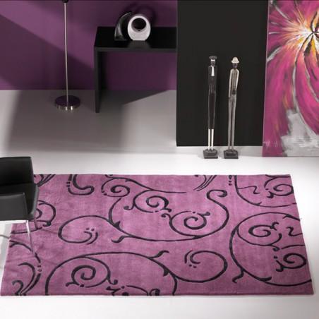 Tapis Design Fedora par Carving aubergine