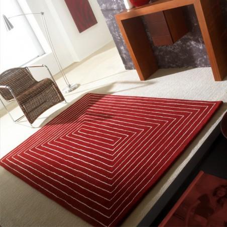 Tapis Design Tridemensional Rouge foncé par Carving
