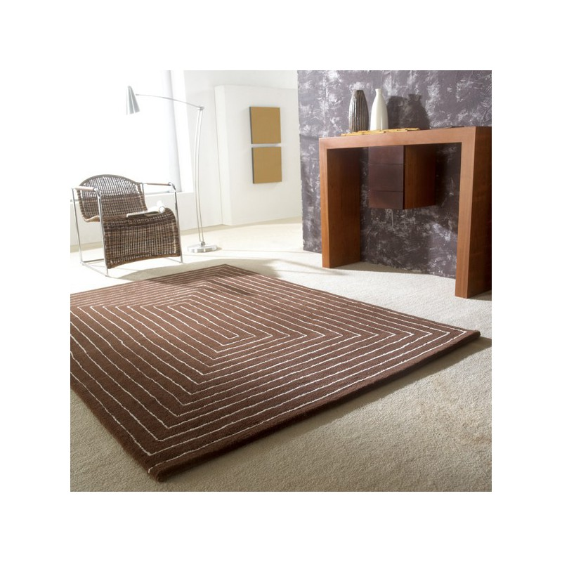 Tapis Design Tridimensional marron par Carving