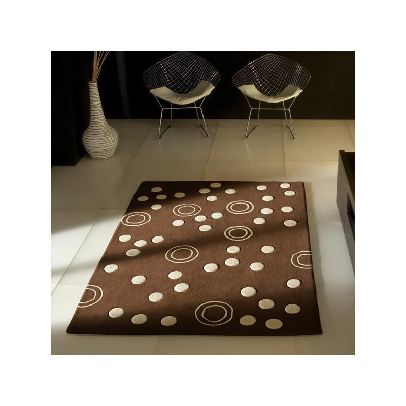 Tapis Contemporain Mist chocolat par Carving