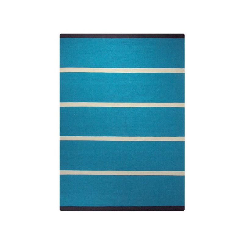 Tapis Tissé Main Simple Stripe Bleu par Esprit Home