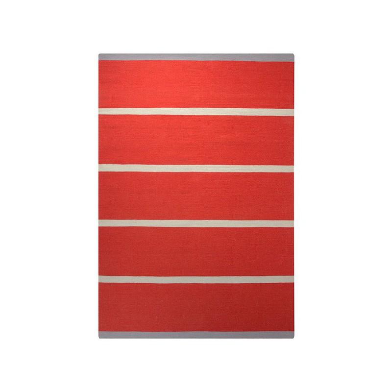 Tapis Tissé Main Simple Stripe Rouge par Esprit Home