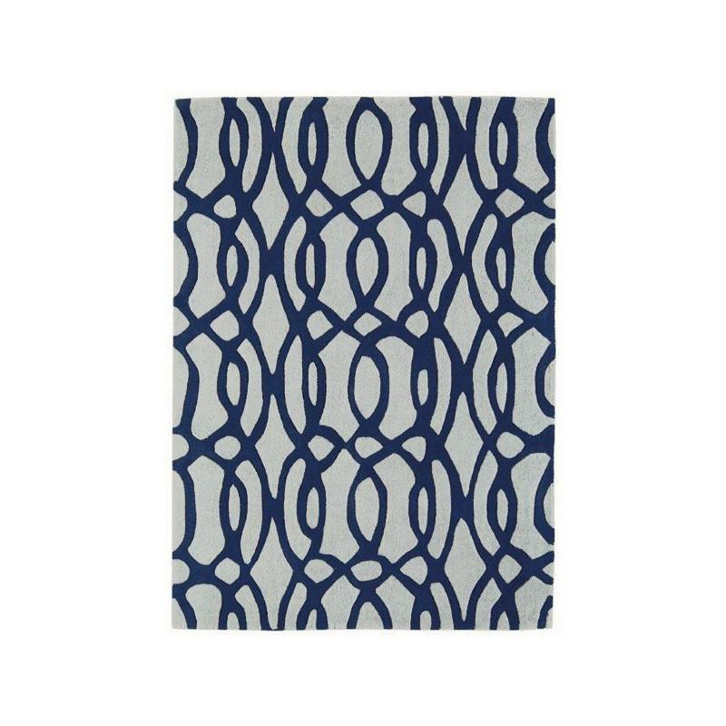 Tapis Design Chic Baroco Bleu par Joseph Lebon
