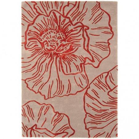 Tapis Floral Corole Rouge par Joseph Lebon