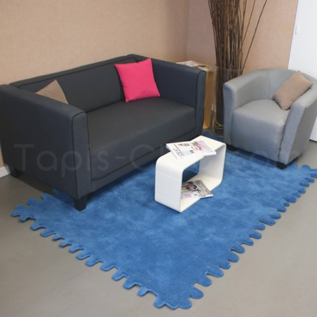 tapis en laine clat bleu canard par carving. Black Bedroom Furniture Sets. Home Design Ideas