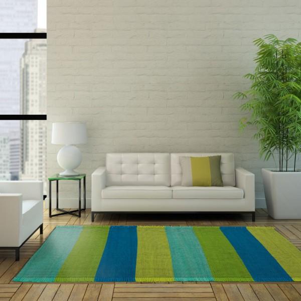 tapis réversible taping stripes multicolore