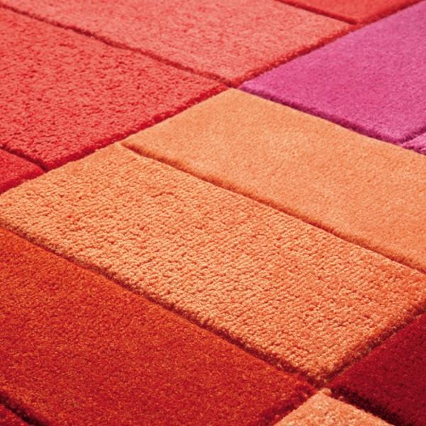 Tapis Salon Rouge Orange