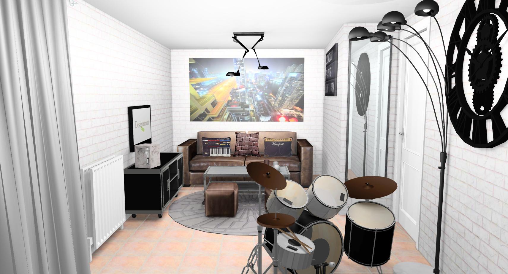 Chambre Ado Avec Papier Peint Brique chambre-ado-garcon-industriel-vintage-new-york-papier-peint