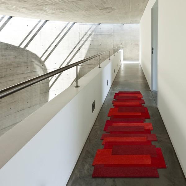 Tapis contemporain Pebbles Rouge par Angelo 70 x 250 cm
