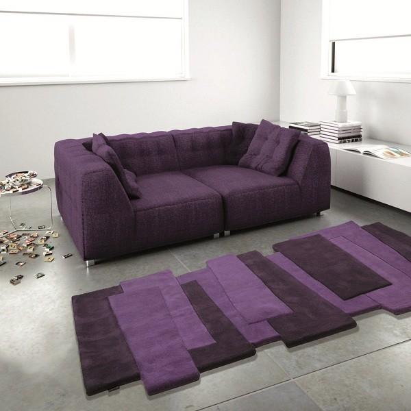 Tapis Contemporain en laine Pebbles Violet par Angelo 170 x 240 cm