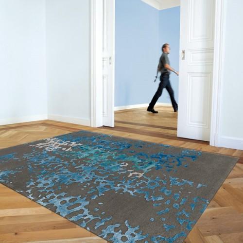 Notre Tapis de luxe Coral bleu disponible sur Tapis-Chic.com
