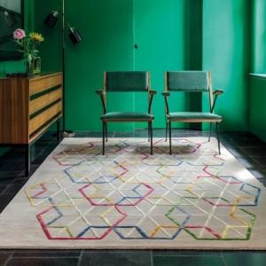 Tapis design Ligne pure a motifs multicolore