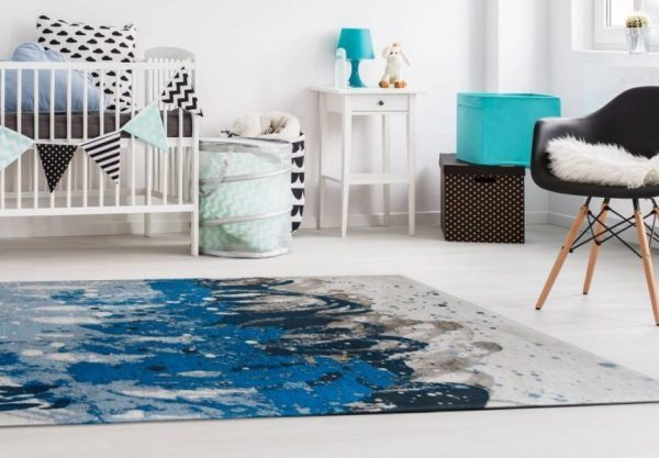 Tapis salon design Atlantic surf par Louis De Poortere