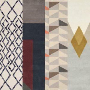 mix tapis scandinave géométrique formes lignes losanges carré rectangulaire