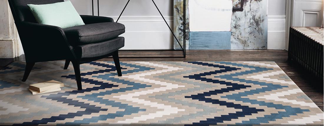 tapis bleu marine design couleurs classiques tapis chic. Black Bedroom Furniture Sets. Home Design Ideas